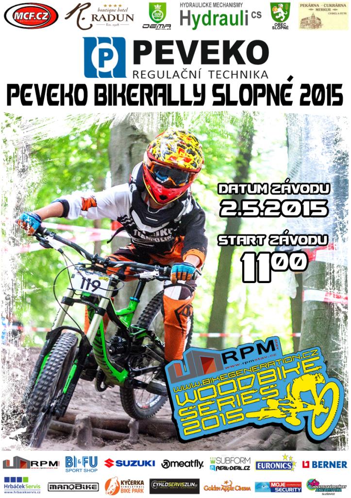 Plakát Bikerally Slopné 2015