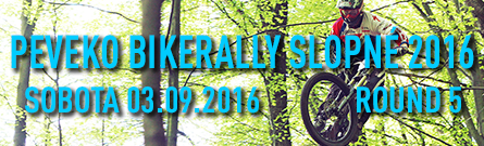 Peveko BikeRally Slopné 2016 banner